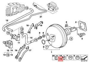 Genuine BMW E39 528i Sedan Vacuum Hose 34301163638
