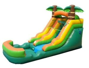 12'H Pogo Kids Tropical - Premium Inflatable Water Slide With Pool & FREE Blower