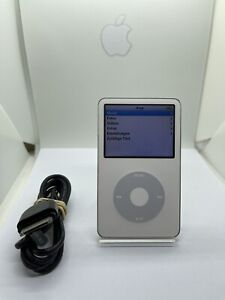 Apple iPod Classic 5. Generation Silver White 30GB Used Good Condition #27
