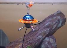 UFO Shaped Action Air Ornament Fish Tank Decor Aquarium Decoration