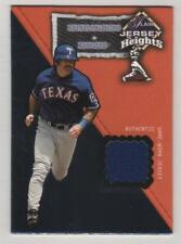 2002 Flair Jersey Heights #19 Rafael Palmeiro Rangers Game Used Jersey BV$4