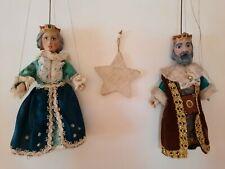 Zwei Marionetten aus Prag, Königspaar / Tschechische Marionetten