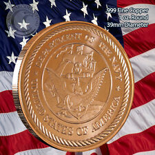 """""""US Navy"""" 1 oz .999 Copper Round Limited and Rare (not minted anymore)"""