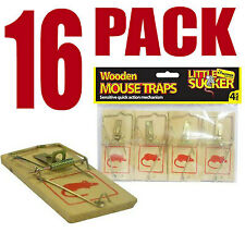Mousetraps Wooden Reusable Mouse Trap Bait | Pack of 16
