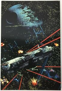 "Star Wars UK Fan Club 2000 Return Of The Jedi Battle Scene 6"" x 4"" Postcard  New"