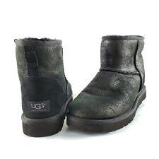 UGG Australia Black Mini Suede Boots Classic Size 9 Men Shoes