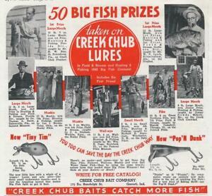 Magazine Ad - 1941 - Creek Chub Bait Co - Garrett, IN