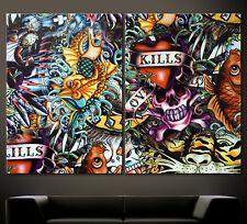 ABSTRAKT 658 GRAFFITI Leinwand Bilder Wandbild No Poster Pop Street Art Kunst XL