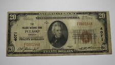 $20 1929 Pulaski Virginia VA National Currency Bank Note Bill! Ch. #4071 FINE!