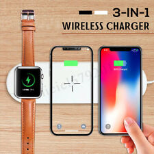 3IN1 Qi Wireless Charger Pad AirPower For iPhone XS MAX XR iWatch2/3/4 S Samsung