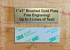Brushed Gold 1x3 Custom Engraved Sign Plate Plaque Pet Name Urn Sports Trophy