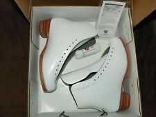 Womens Riedell Silver Star Model 355 Figure (Ice) Skate Boots Size 5 1/2 B White