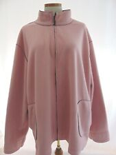 Sport Savy Womens Fleece Jacket Zipper Front Closure Mock Neck Color Soft Pink