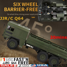 CES JJRC Q64 2.4G 1/16 Rc Car Military Truck Rock Crawler 6WD Off-Road Vehicle A