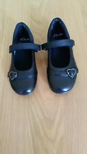 Clarks Girl's Leather Black Shoes, New, Size 8.5 E