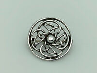Gorgeous W H Darby Vintage 1961 Sterling Silver Iona Celtic Knot Design Brooch