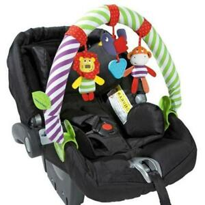 Baby Stuffed Toy Hanging Infant Stroller Animal Soft Colorful Clip Car Seat Hang