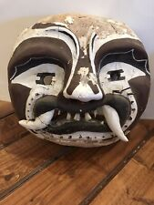 Antique Old Mexican Asian Chinese Weird Ethnographic Mask With Real Teeth Huge!