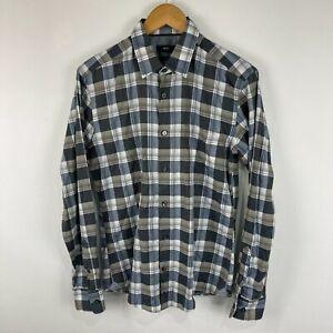 Hugo Boss Mens Button Up Shirt Size M Medium Multi Plaid Long Sleeve 230.09