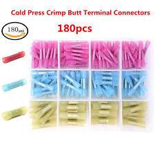 180x 22-10 AWG Cold Press Crimp Butt Electrical Wire Splice Terminal Connectors