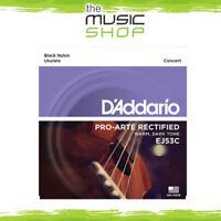 D'Addario EJ53C Pro Arte Rectified Black Nylon Concert Ukulele Strings -Daddario