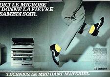 Publicité Advertising 068  1982   Technics  (2p) hi-fi ampli tuner  enceintes
