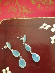 Blue CHALEDONY drop Earrings