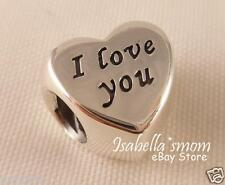 Valentine WORDS OF LOVE Authentic PANDORA I Love You HEART Charm~Bead NEW
