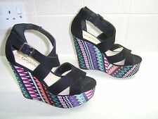 New Look Ladies Wedge Sandals, Size Uk 4, Really Good Condition
