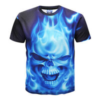 Punisher Skull LIVE FAST-RIDE FREE men`s printed black shirt tattoo bike Harley
