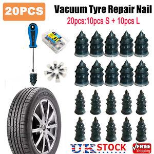20pcs Car Vacuum Tire Repair Nail Motorcycle Tubeless Tyre Repair Rubber Nails