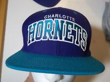 CHARLOTTE HORNETS MITCHELL & NESS HARDWOOD CLASSIC SEWN SNAP BACK HAT-CAP NWOT