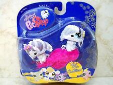 Littlest Pet Shop Hasbro Cuddliest Pet Pairs SHEEP DOG lot #465 #466 Retired NIB