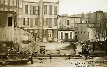 RPPC 1913 JANESVILLE Wi WISCONSIN - RUINS OF DOWNTOWN FIRE - REAL PHOTO POSTCARD
