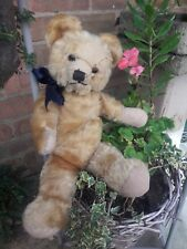 "Antique teddy English?? 16"" golden mohair traditional jointed collectors bear"