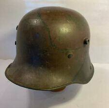 WWI WW1 German Camouflage Pattern Steel Helmet StahlhelmM16 M17 w/ name inside