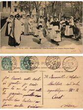 CPA G.M. 105. MARSEILLE - Les Nounous au Cours Pierre Puget (378424)
