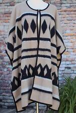 Lucky Brand Sweater Cape Shawl Blanket Cardigan One Size (M XL 2X)Tribal Aztec