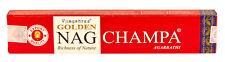 GOLDEN NAGCHAMPA - VIJAYSHREE INCENSE STICKS PACK OF 6 (EACH BOX CONTAINS 15G)