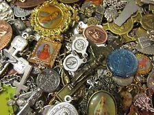 10 Religious Medal Pendant Crucifix Cross Lot #6 Our lady-Saint Random Selection