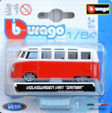 VW VOLKSWAGEN BUS 1:64 (7 cm) Model Toy Car Diecast Samba Miniature Camper Red
