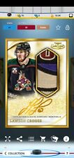 Topps SKATE Lawson Crouse ICONIC Gold Label Box 2021 Gold Signature Relic
