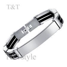 T&T 316L Stainless Steel ID Link Bracelet (BBR110)