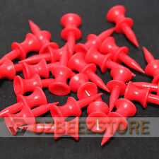 31 mm Red Plastic Golf Step Tees castle tees  pack of 100