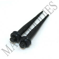 0606 Black Acrylic Stretchers Tapers Expanders 6G 6 Gauge 4mm MallGoodies