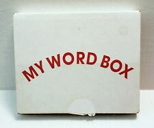 My Word Box Picture & Words Flash Cards (231) The Child'S World 2001 Home School