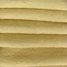 "1/6 yd Vis1 Old Ivory Intercal 6mm ""Flat"" Med. Dense German Viscose Fur Fabric"