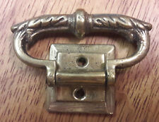 BRASS HANDLE WITH FIXED BASE FOR BRACKET,MANTLE & OTHER CLOCKS//SPARES/REPAIR