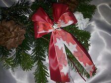 10 Weihnachtsschleifen,Christbaumschleifen rot Deko Weihnachten