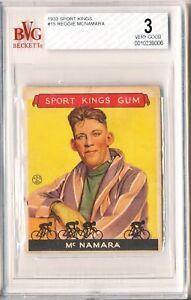 REGGIE MCNAMARA 1933 Sport Kings #15 Beckett BGS BVG 3 VG Bicycling